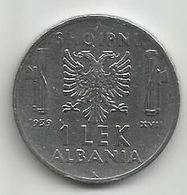 Albania 1  Lek 1939. - Albanie