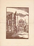 Illustration D' Après VALDENAIRE Au Dos Liste ? à Identifier Pour L'abbé De L'institution Saint Joseph D' épinal - Vieux Papiers