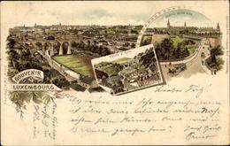Lithographie Luxemburg Luxembourg, Vallee D'Eich, Entree De La Ville - Cartes Postales