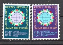 G39-1 Nations Unies N° 58 à 59 ** - Ungebraucht