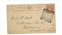Squared Circle Cancel Great Britain Victoria Brentwood Large Cancel C. 1894 Railway Ashford Station Cancel - 1840-1901 (Victoria)