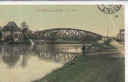 95, VAL D'OISE ,AUVERS-sur-OISE, Le Pont ,Personnage, Colorisé Scan Recto-Verso - Auvers Sur Oise
