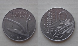 ERRORE !!! 10 LIRE 1981 D/R CON DOPPIO BORDO !!! - 10 Lire