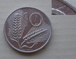 ERRORE !!! 10 LIRE 1982 FRATTURA DI CONIO !!! - 10 Lire