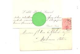 Carte De Visite Avec Enveloppe Timbrée De Mr L'Abbé Had. PIRSOUL, Curé à FLEMALLE HAUTE 1921 (b277) - Visitekaartjes