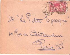 25c.Jeux Olympiques PARIS 1924 Oblitéré PARIS - Marcophilie (Lettres)
