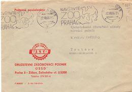 PRAHA 1966 ZOO NAVSTIVTE COVER SPECIAL POSTMARK  (GIUGN200135) - Stamps