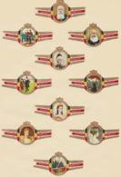 Bagues De Cigares Tabac Mercator Vander Elst Dynastie De Belgique Léopold II Réunion De 20 Pièces - Bagues De Cigares