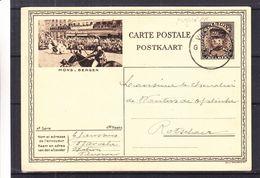 Belgique - Carte Postale Perforée PR De 1933 - Entier Postal - Oblit Vilvorde - Exp Vers Rotselaar - Perfins