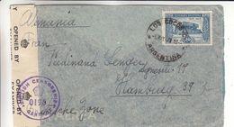 Argentine- Lettre De 1947 - Oblit Los Cocos - Exp Vers Hamburg - Avec Censure - Argentina