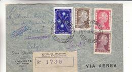 Argentine- Lettre Recom De 1954 - Oblit General Viamonte - Exp Vers Forest - Télécommunications - Argentina