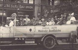 BERLIN -  Unter Den Linden 22, Automobil-Rundfahrten Weltreise-Bureau Union - FOTO KARTE. - Mitte