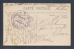 Hôpital Dépôt Des Convalescents Avignon Caserne Chabran Franchise Violette CP Caserne 7e Génie - Poststempel (Briefe)