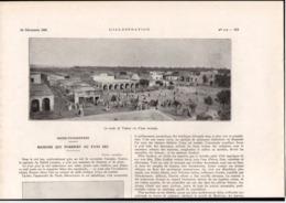 """Article Coupure De Presse 1 Page Année 1921 Tunisie Tozeur """"les Maisons Qui Fondent Au Pays Sec"""" - Vieux Papiers"""