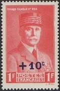 France Histoire N°  494 ** Maréchal Pétain - Timbre Surchargé De + 10 % - 1941-42 Pétain