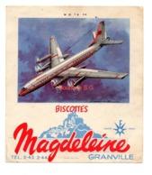 Buvard Biscottes Magdeleine Numero N 21 T U 114 Granville Avions Collection - Biscotti
