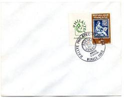 RALLYE PHILATEC 64 MONACO + PARIS 1964 = CACHET TEMPORAIRE  Illustré D' ARMOIRIES - Bolli Commemorativi