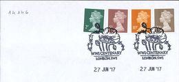 WKI WWI Erster Weltkrieg - Mohn - Stacheldraht - London 2017 - Covers & Documents