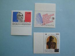 1989 Argentine  Yv 1680/1 + 1684 ** MNH  - Michel 1977/8 + 1984 French Revolution - Nuovi