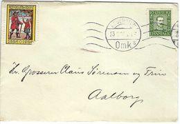 DANEMARK 1924: LSC De Copenhague Pour Aalborg, CAD - 1913-47 (Christian X)