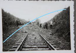 Photox6 ELLEZELLES 1940 Train Bombardé Dégagement De La Voie Trein Ligne Renaix Lessines Viaduc - Trains