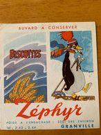 1 BUVARD BISCOTTES ZEPHYR - Biscottes