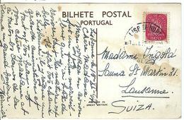 PORTUGAL 1947: CP Illustrée De Batalha Envoyée De Lisbonne Pour Lausanne, CAD - Lettres & Documents