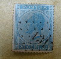 AF. Cl. 1A. 7.8. Dix Centimes Bleu  Médaillon Avec Oblitération à Points 131 - Belgio