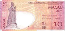 MACAO - 10 Patacas 2013 UNC - Macau