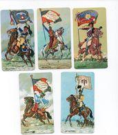 """Images Publicitaires- Offertes Par  PERSIL - """" Porte Drapeau De Napoléon - Cavaliers (Hussard,Mameluks,) Par 5 - History"""