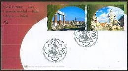 10525) UNO Wien - Mi 371 / 372 - FDC - 5-58c           UNESCO Italien - FDC
