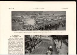 """Article Coupure De Presse 1 Page Année 1921 (72) Sarthe Le Mans Auto Sport """"Le Grand Prix De L'Automobile Club"""" - Vieux Papiers"""