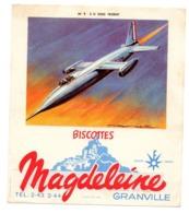 Buvard Biscottes Magdeleine Numero N 9 S O 9000 Trident Granville Avions Collection - Biscotti