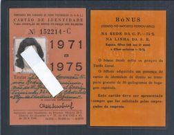 Rare Portuguese Railways Card For Employee Discounts From 1971/75. Portuguese Railways Card Für Ermäßigungen Für Familie - Wochen- U. Monatsausweise