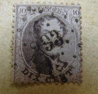 AF. Cl. 1A. 7.9. Dix Centimes Brun  Médaillon Avec Oblitération à Points Chiffre 293 - 1849-1850 Medallions (3/5)