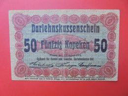 Darlehnskassenscheine Occupation à L'Est 50 KOPEKEN 1916 Circuler (B.14) - Eerste Wereldoorlog