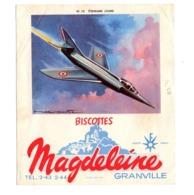 Buvard Biscottes Magdeleine Numero N 10 Etendard Lourd Granville Avions Collection - Zwieback