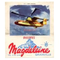 Buvard Biscottes Magdeleine Numero N 3 Fairey Rotodyne Granville Avions Collection - Biscotti