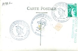 N°1299 R -cachet 40è Anniversaire De La Mort De Jean Moulin Et à La Mémoire Du Générale De Gaulle - Marcophilie (Lettres)