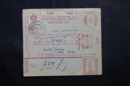SLOVÉNIE - Bulletin De Colis De Celje En 1937, Affranchissement Mécanique  - L 63776 - Slovenia