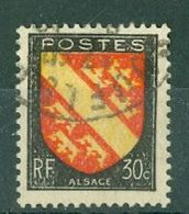 FRANCE - N° 756 Oblitéré - Armoiries De Provinces (III). Alsace. - 1941-66 Escudos Y Blasones