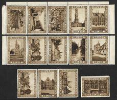 14 Vignettes Publicitaires Et Touristiques De Brugge (Nic 830) - Erinnofilia