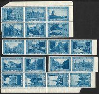 18 Vignettes Publicitaires Et Touristiques De Brugge (Nic 834) - Erinnofilia