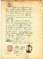 1871 META DI SORRENTO DOCUMENTO PARROCCHIA S.MARIA DEL LAURO - Vecchi Documenti
