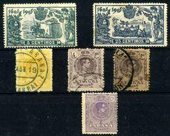 España Nº 257, 260, 290, 271, 279. Año 1905-20 - Usados