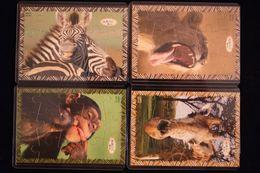 PUZZLE ANIMAUX EUROPE  DE 153-DE156 2008 AVEC BPZ - Puzzles