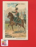 Aiguebelle Chromo Didactique Sicard ? Militaria Chasseur Cheval Officier 1804 Fischer  Dragons Aremberg - Aiguebelle