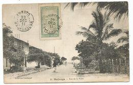 MADAGASCAR 5C  AMBATO 22 DEC 1911 AU RECTO CARTE MAJUNGA RUE DE LA POSTE - Madagascar (1889-1960)