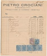 1916 BORGOPACE  PESARO FATTURA PIETRO CROCIANI CARBONI VEGETALI - Zonder Classificatie