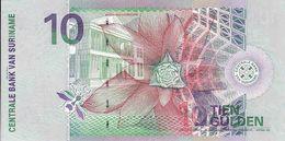 Surinam, 10 Gulden, 1.1. 2000 AN 871993, Back Side Bird, UNC - Suriname